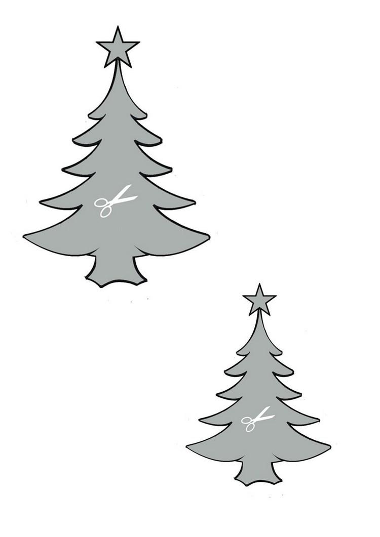 dibujo para imprimir recortar sorprender ninos navidad arboles navidenos ideas