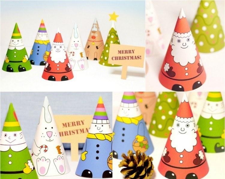 dibujo para imprimir recortar sorprender ninos navidad conos ideas