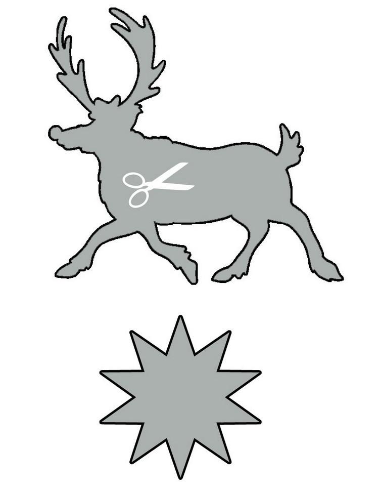 dibujos para imprimir recortar sorprender ninos navidad estrella reno ideas