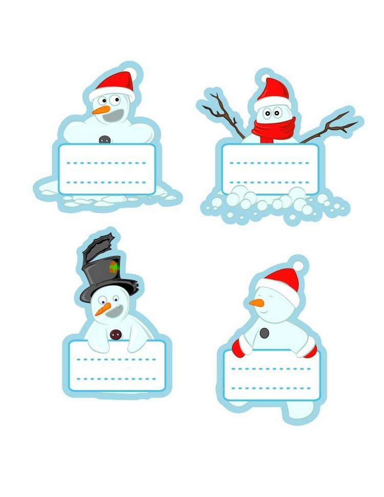 dibujos para imprimir recortar sorprender ninos navidad munecos nieve ideas