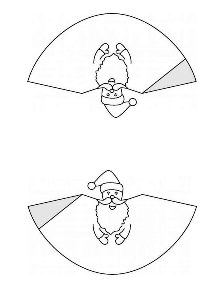 dibujos para imprimir recortar sorprender ninos navidad papa noel cono ideas