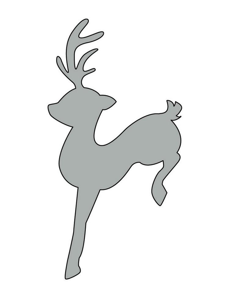 dibujos para imprimir recortar sorprender ninos navidad reno saltando ideas