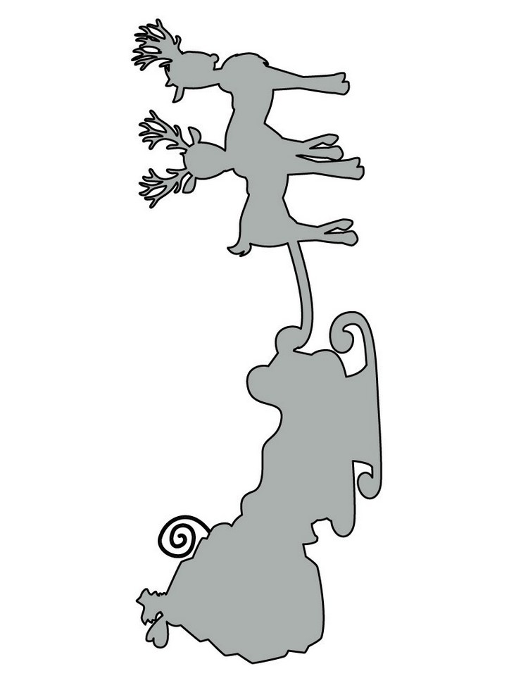 dibujos para imprimir recortar sorprender ninos navidad trineo renos ideas