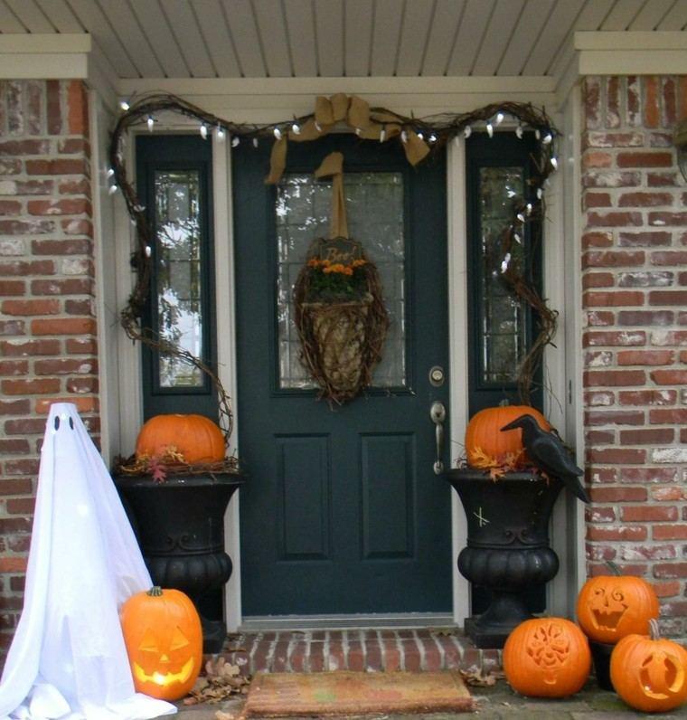 decoración puerta halloween fantasmas