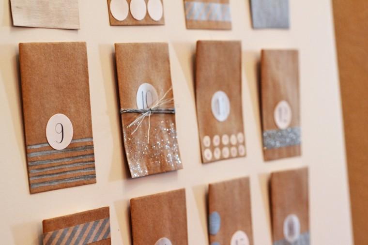diseño bolsitas papel numeros adornos
