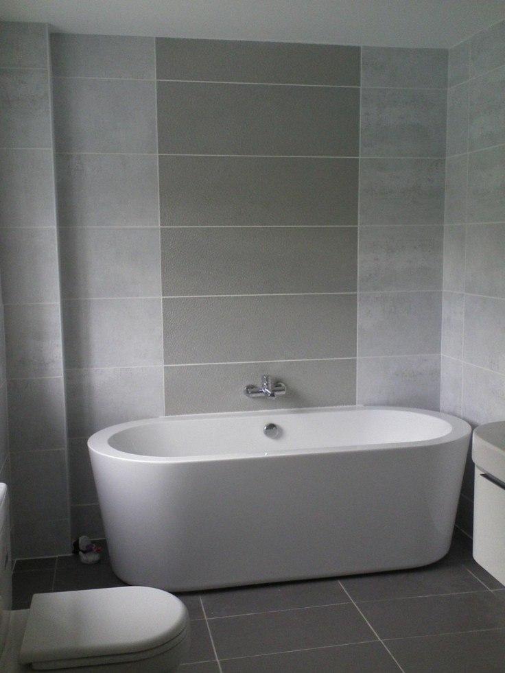 diseño cuarto baño moderno gris