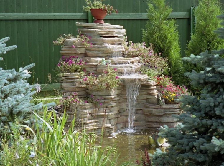 Cascadas y cataratas en el jard n 63 ideas refrescantes - Diseno de cascadas para jardin ...