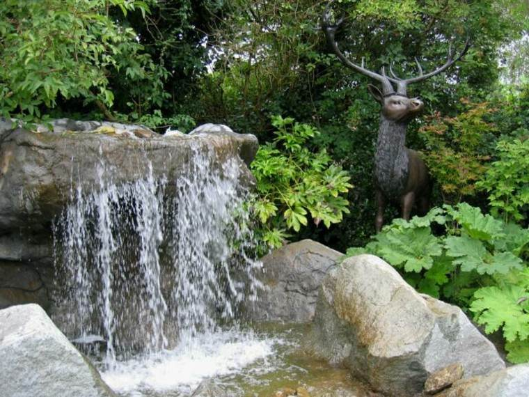 design waterfall water reindeer deer