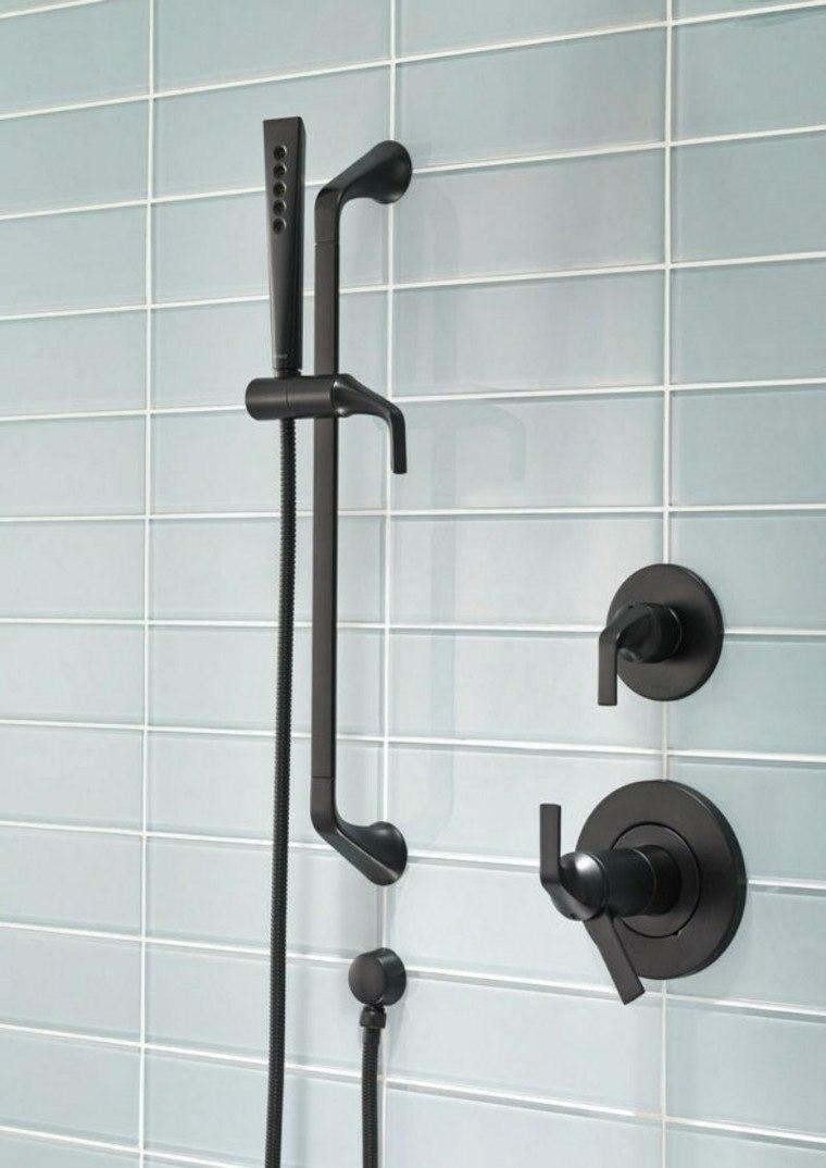 Grifos de cocina y accesorios de ba o en negro 50 ideas for Llave de ducha pared