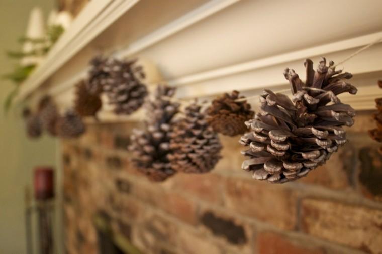 diseño guirnalda navidad piñas pino