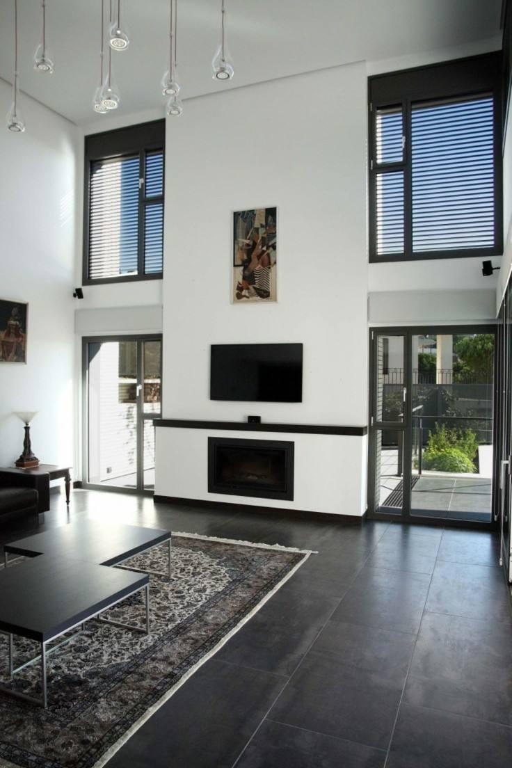 diseño salon suelo color gris