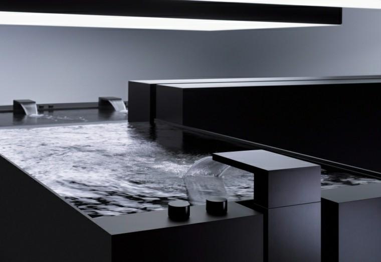 diseño baño moderno color negro