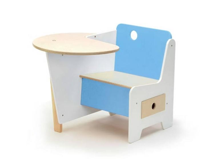 diseño escritorio infantil color celeste