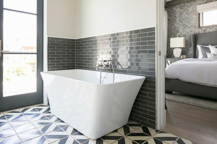 diseño moderno pared color gris