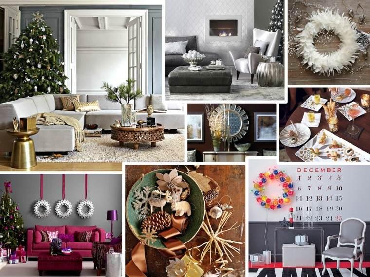 diseños adornos navideños modernos