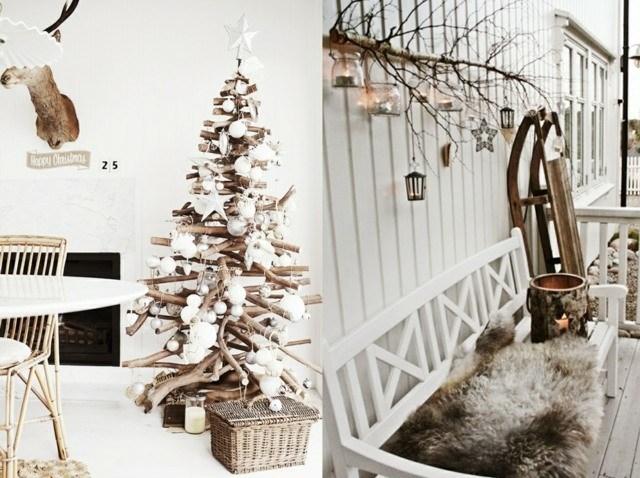 diseños caseros abetos navidad madera