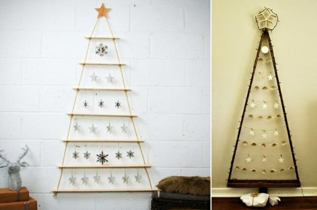diseños abetos navidad escandinavos  pared