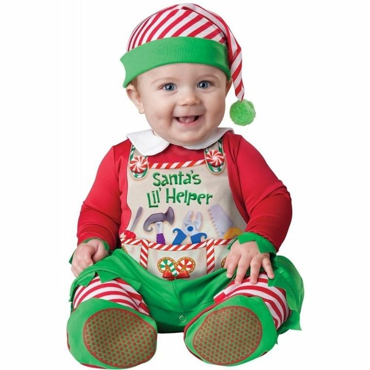 disfraces bebe vestido navidad original elfo feliz ideas