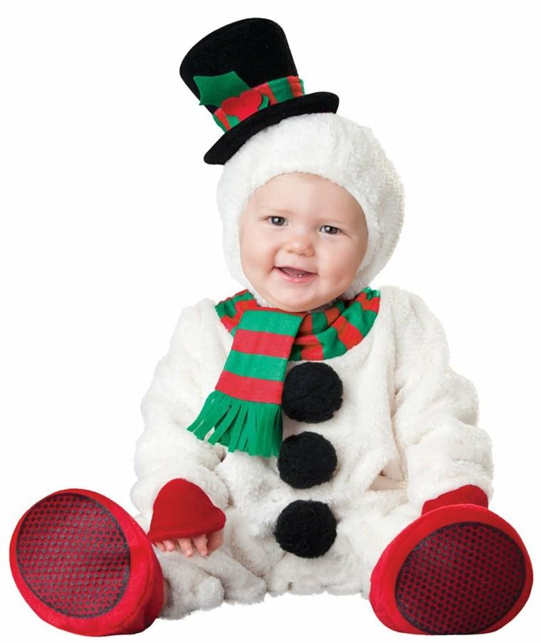 disfraces infantiles bebe vestido navidad original hombre nieve ideas