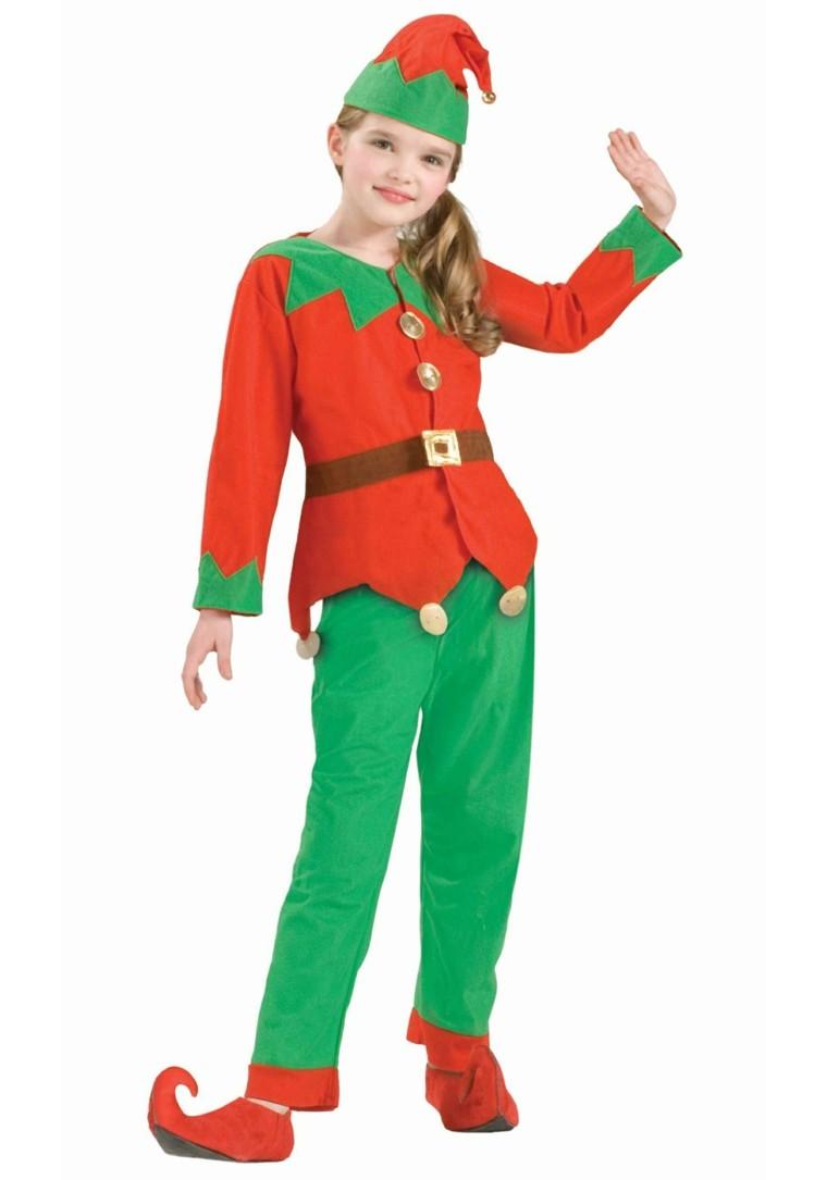 disfraces nina vestido navidad original ayudante papa noel ideas