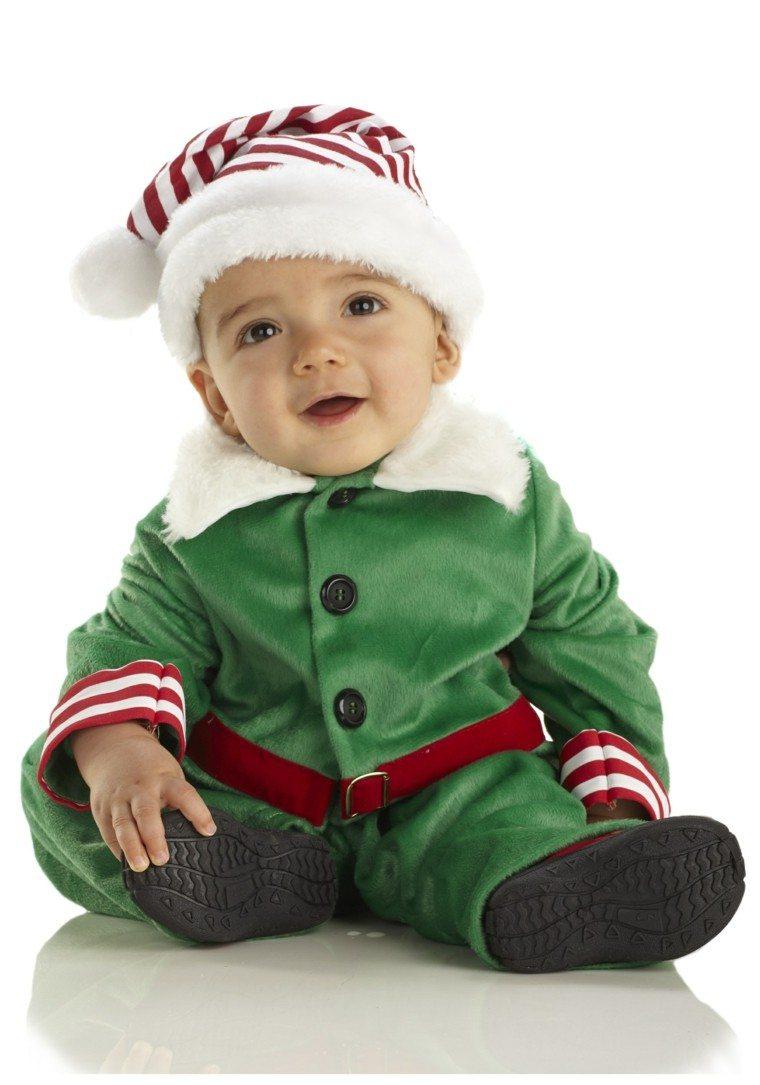 Disfraces Infantiles Ideas Para Disfrazar El Nino En Navidad - Bebes-vestidos-de-papa-noel