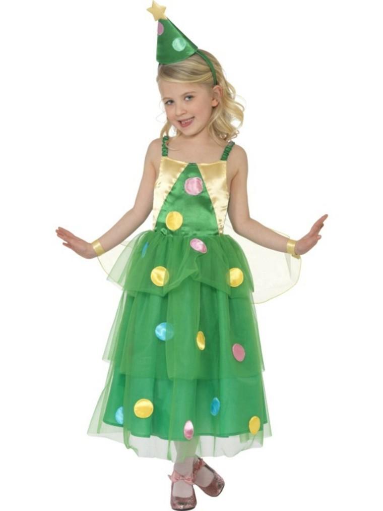 disfraces nina vestido navidad original arbol navideno ideas