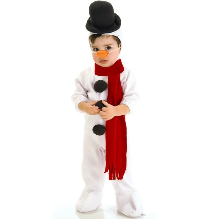 disfraces nino vestido navidad original chico muneco nieve ideas