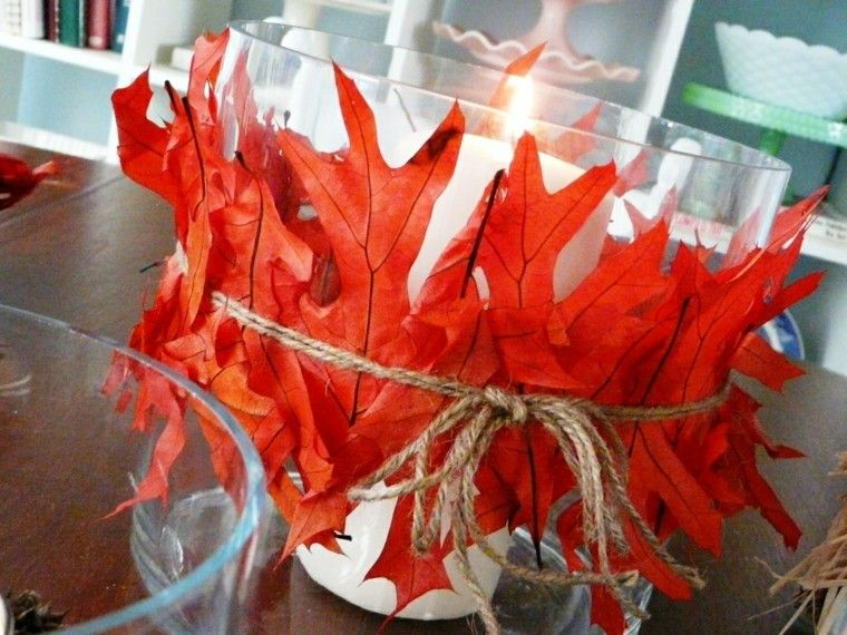 diy detalle hojas cuerdas cuerda