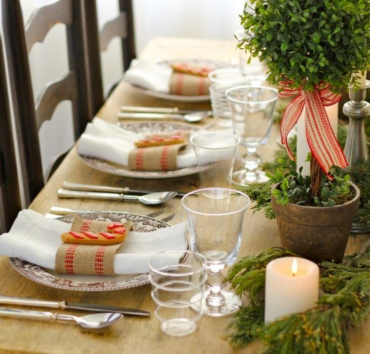 diy detalles mesa cubiertos yute