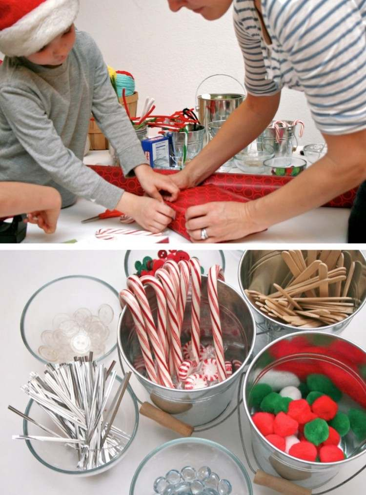 doblado regalos mueble mesa familia