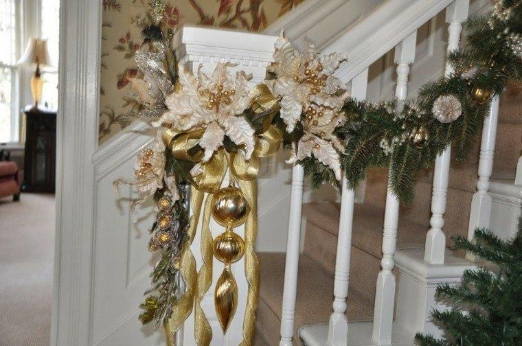 doradas lazos escaleras hojas paredes