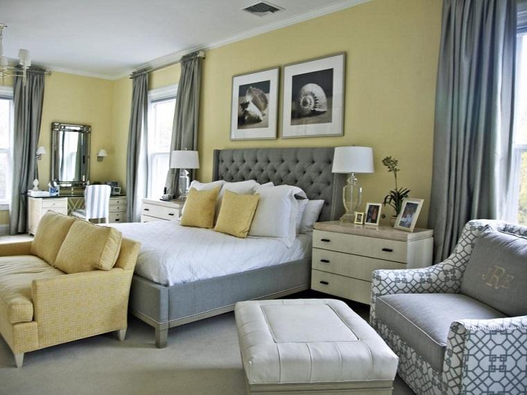 Dormitorio ideas de muebles y paredes en colores oto ales - Color paredes habitacion ...