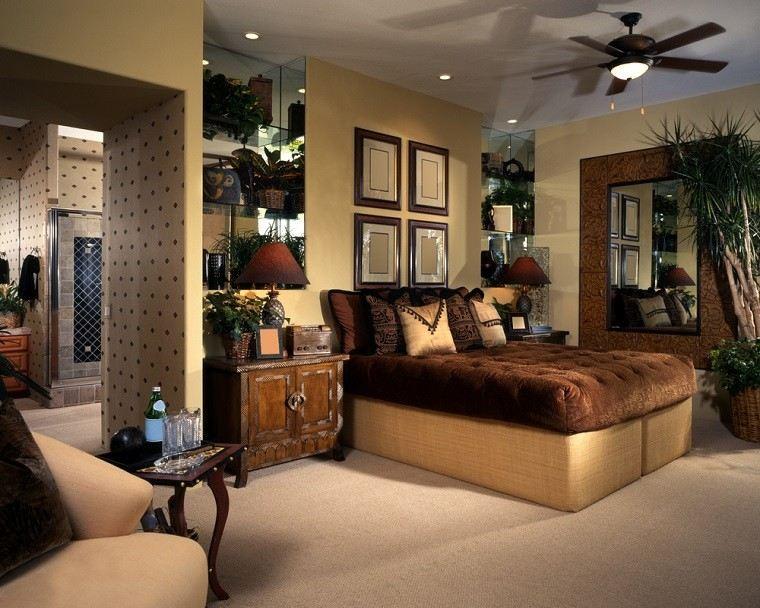 dormitorio ideas moderno paredes color otoño acogedor espejo plantas preciosos