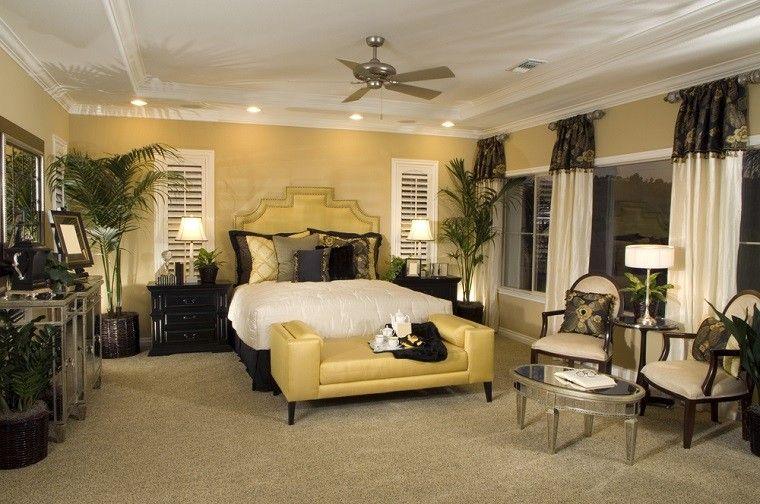 dormitorio ideas moderno paredes colorotoño acogedor macetas plantas precioso