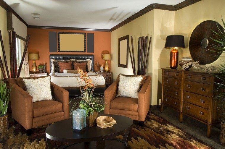 dormitorio ideas moderno paredes color otoño acogedor ramas decorativas precioso