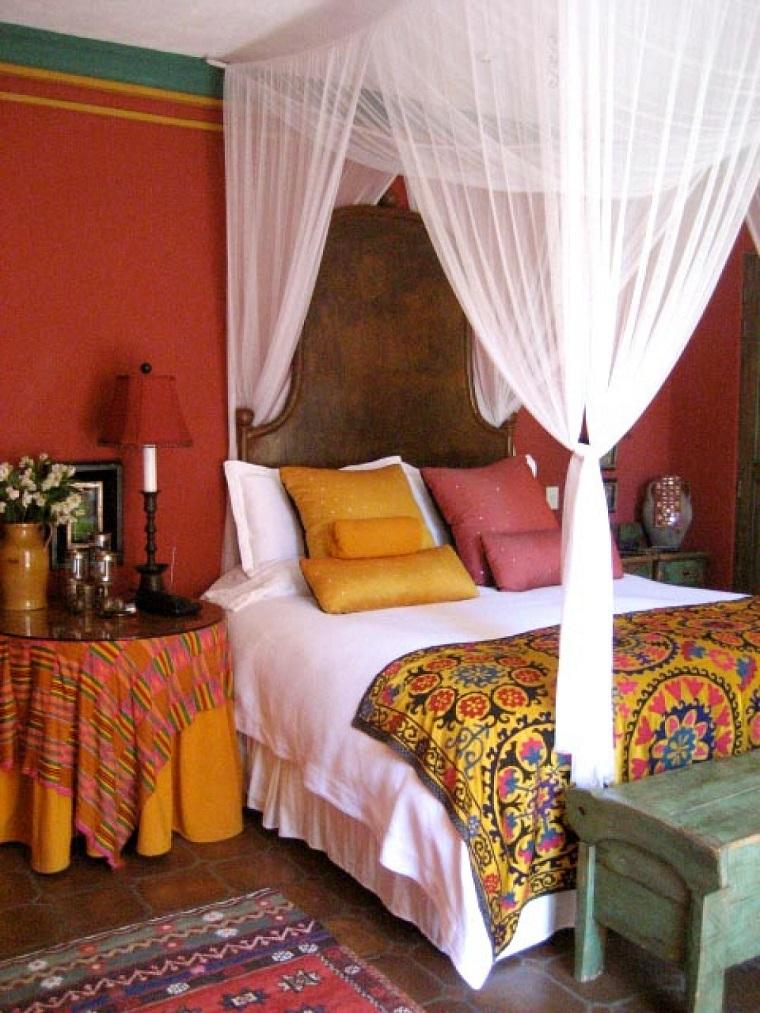 dormitorio ideas moderno paredes color otoño acogedor rojo naranja preciosos