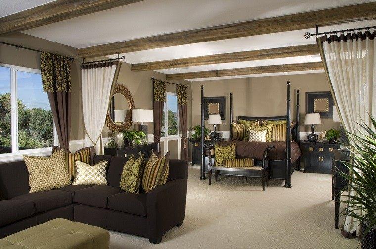 dormitorio ideas moderno paredes color otoño acogedor sofa precioso