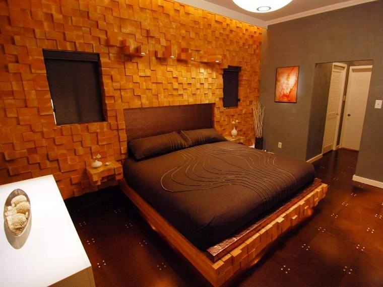 dormitorio moderno paredes color otoño acogedor precioso