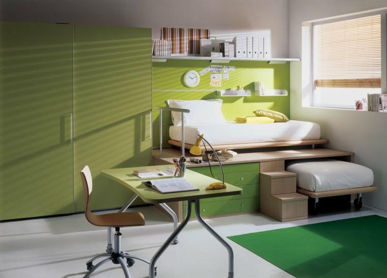 escritorio juvenil color verde