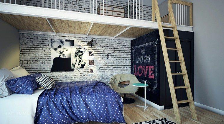dormitorio juvenil ideas chico original ropa cama azul moderno