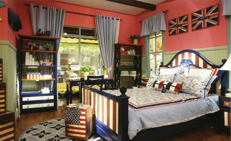 dormitorio juvenil ideas chico original estilo americano moderno