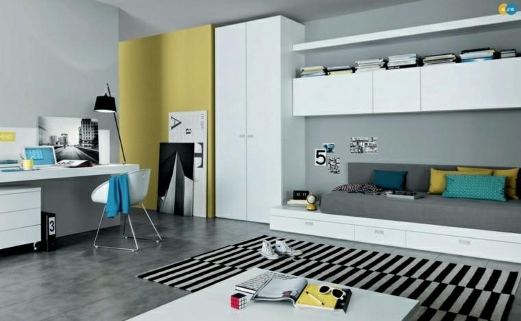 dormitorio juvenil ideas chico original estilo minimalista moderno