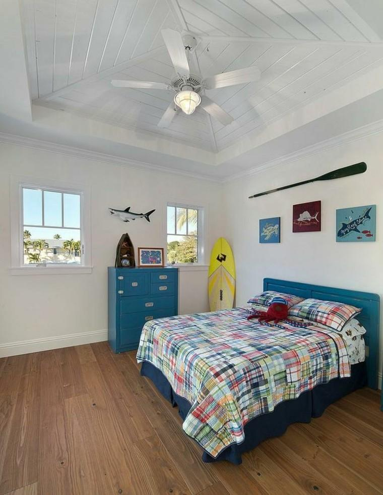 dormitorio juvenil ideas chico original paredes blancas moderno