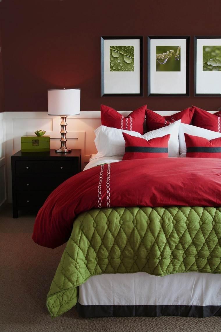 dormitorio moderno paredes color otoño acogedor clasico ideas