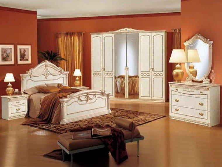 dormitorio moderno paredes color otoño acogedor madera blanca ideas