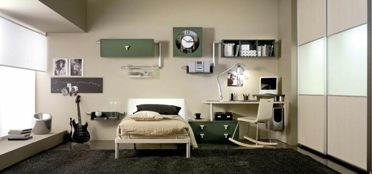 dormitorios adolescentes amplios luminosos armario brillante ideas