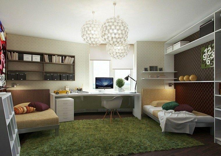 dormitorios juveniles chico original aldombra verde ideas