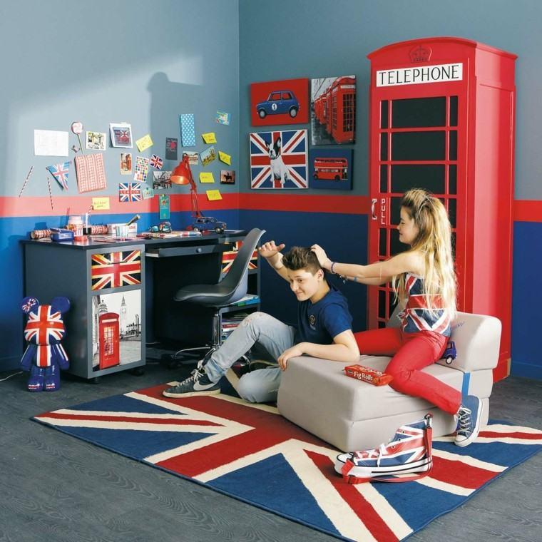 dormitorios juveniles chico original cabina telefono londres ideas