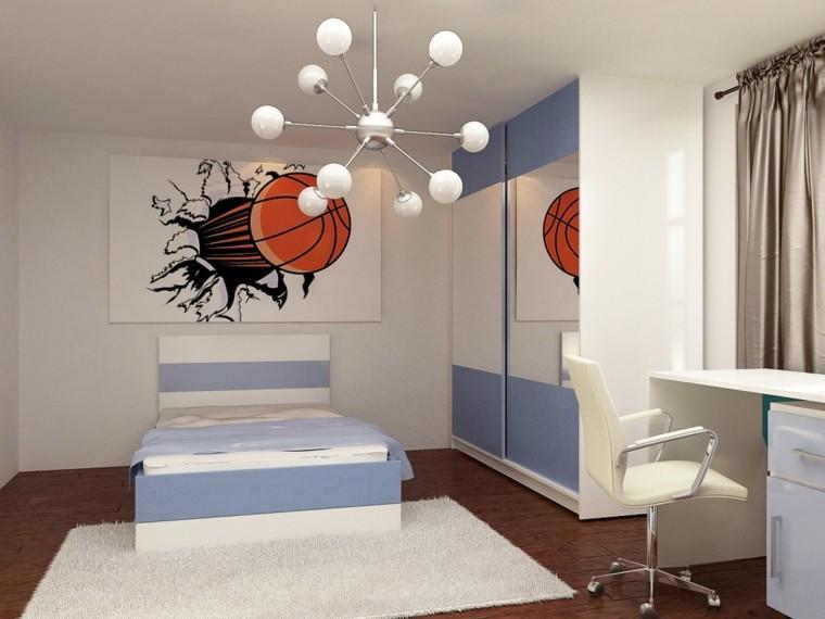 dormitorios juveniles chico original cama cuadro llamativo ideas