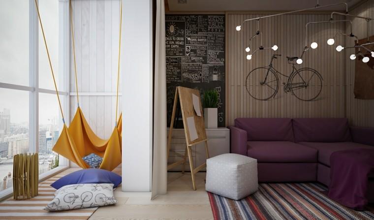 dormitorios juveniles chico original columpio taburetes ideas
